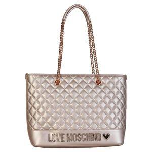 df0797b9b9 Love Moschino Bags - LOVE MOSCHINO QUILTED METALLIC TOTE HANDBAG